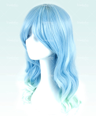 Baby Blue Medium Wavy 50cm