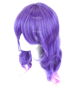 Violet White Medium Wavy 50cm