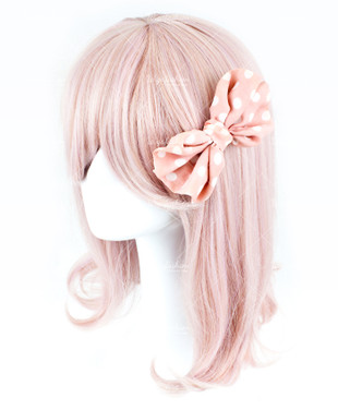 Baby Pink Short Curly 35cm