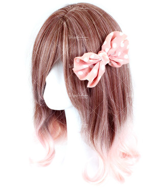 Brown Medium Curly with Pinky Tail 40cm