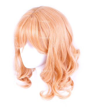 Orange Blonde Short Wavy 30cm