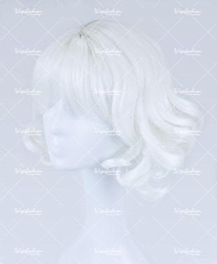 White Short Wavy 30cm