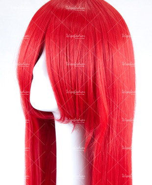 Bright Red Long Straight 95cm