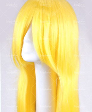 Saffron Yellow Long Straight 90cm