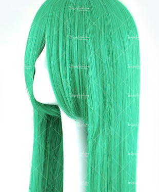 Bright Green Long Straight 90cm