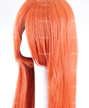Burnt Orange Long Straight 90cm