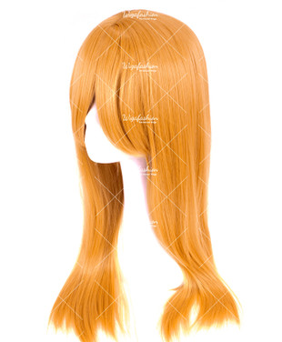 Ochre Brown Long Straight 70cm