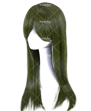Dark Olive Green Long Straight 65cm