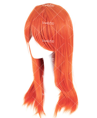 Flame Red Long Straight 65cm