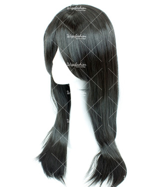 Greyish Black Long Straight 70cm