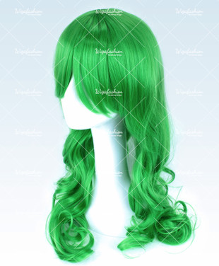 Bright Green Long Curly 65cm