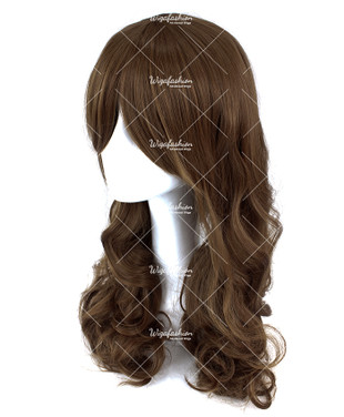 Taupe Brown Long Curly 70cm