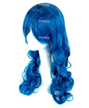 Zaffre Blue Long Wavy 70cm