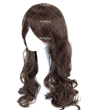 Dark Brown Long Wavy 75cm