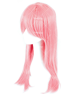 Salmon Pink Long Straight 70cm