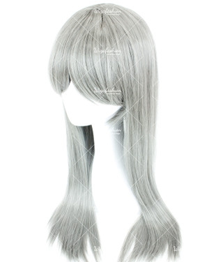 Platinum Silver Long Straight 70cm