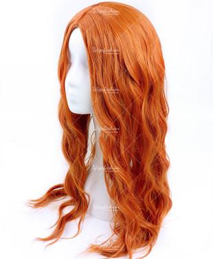 Dazzling Orange Long Wavy 70cm