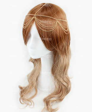 Two Tone Brown/Champagne Long Wavy 70cm
