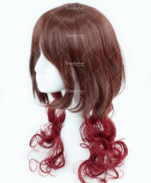 Brown/Red Bottom Long Wavy 70cm