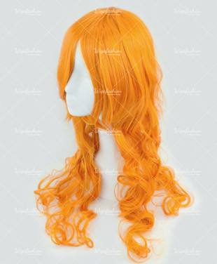 Orange Long Wavy 75cm