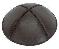 Black Leather Kippah