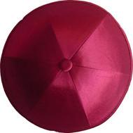 Red Wine Satin Kippah