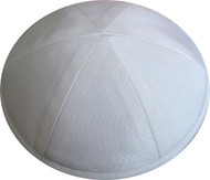 White Raw Silk Kippah