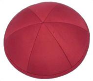 Red Raw Silk Kippah
