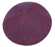 Burgundy Vine Silk Kippah