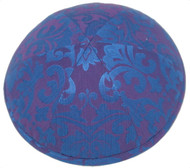 Blue Pattern Silk Kippah