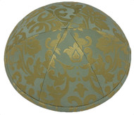 Gold Pattern Silk Kippah