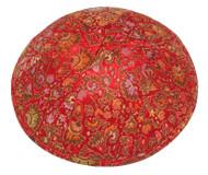 Red Brocade Kippah