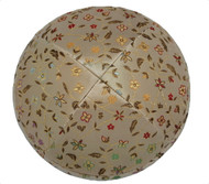 Yellow Flowers Brocade Kippah