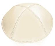 Ivory Leather Kippah