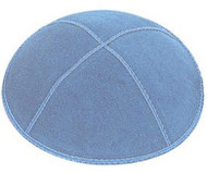 Light Blue Suede Kippah