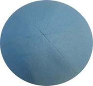 Baby Blue Linen Kippah