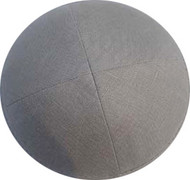 Grey Linen Kippah