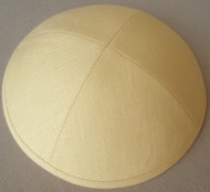 Yellow Linen Kippah