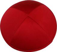 Bright Red Cotton Kippah