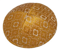 Gold Pattern Brocade Kippah