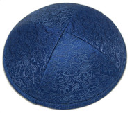 Blue Beauty Brocade Kippah