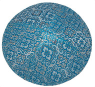 Light Blue Collage Brocade Kippah