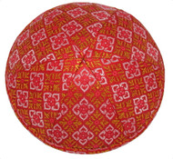 Red & Gold Collage Brocade Kippah