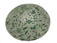 Green Fern Brocade Kippah