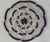 Black Beads Womens Kippah