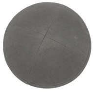 Dark Grey Linen Kippah