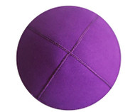 Purple Eco Suede Kippah