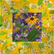 Black Eyed Susan Collage Ketubah by Nishima Kaplan