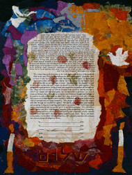 Colors Of Peace Ketubah by Nishima Kaplan