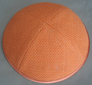 Orange Burlap Kippah